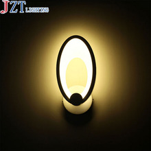 T LED circular Ring Creative Modern novelty lighting Fashion Sweety Simple wall lamp Acrylic porch lightS for Home Staircase(China)