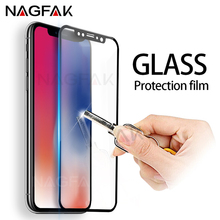 Buy NAGFAK Anti-Scratch 3D Curved Tempered Glass iPhone X 8 7 Plus Full Cover Screen Protector iPhone 6 6s Plus Glass Film for $1.44 in AliExpress store