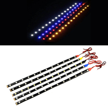 1Pcs Waterproof 30cm High Power LED Strip light 5050 SMD 12 LEDs Flexible Car Auto Daytime Running light DRL Decoration Fog lamp(China)