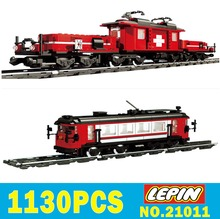 LEPIN Train 21011 1130pcs Technic Series Heavy Container Trucks Model Building Blocks Bricks Kits Compatible 10183 Toys gifts(China)