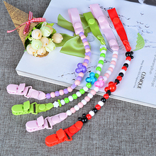 Buy New Baby Pacifier Clip Chain Ribbon Holder Soother Pacifier Clips Leash Strap Nipple Holder Infant Feeding ANJ09 for $1.63 in AliExpress store
