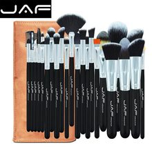 24 pcs Sof Taklon hair makeup brush set High Quality Professional Makeup Brushes Synthetic kabuki brush With Leather Pouch(China)