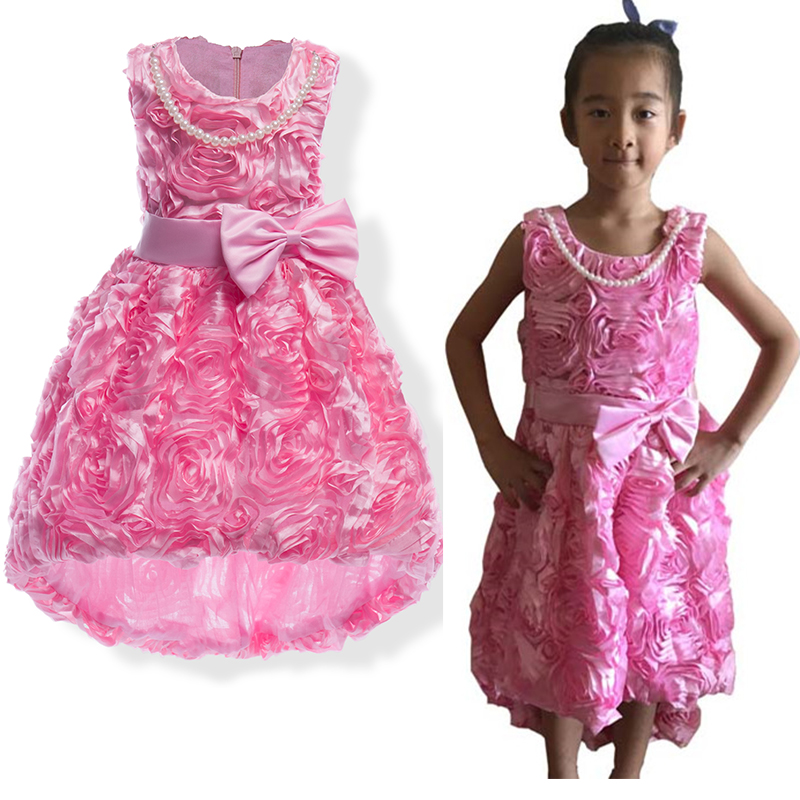 Baby Girl Princess Dress Girls Wedding Party Flower Tutu Dresses Mermaid Trumpet Sleeveless Prom Dresses Evening Gown Petticoat<br>