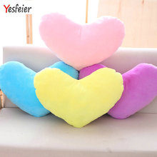 50cm Lovely New Colorful Heart Plush Pillow Stuffed Soft Cushion Kids Baby Toys Dolls Girls Birthday Christmas Valentine Gift(China)