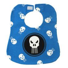 New Hook&Loop Baby Boy Bibs Cartoon Skull Stars Baby Slabbers 100% Cotton Scarf Bibs Bandana Burp Cloths Three Layers Moms Care(China)