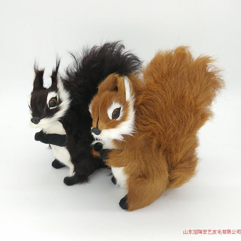 a pair of simulation squirrel toys polyethylene &amp; furs cute squirrel models gift about 19x19CM 252<br><br>Aliexpress