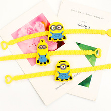 1 Piece Creative Cartoon Cute Minions Kevin Bob Stewart Cosplay Party Favor Supplies Souvenir Kids Hand Decor Wristband