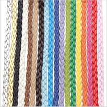 10meters/lot Flat Braided Leather Cord For Necklace Bracelet 5mm String Rope Thread Lace Jewelry Making DIY 18colors F616