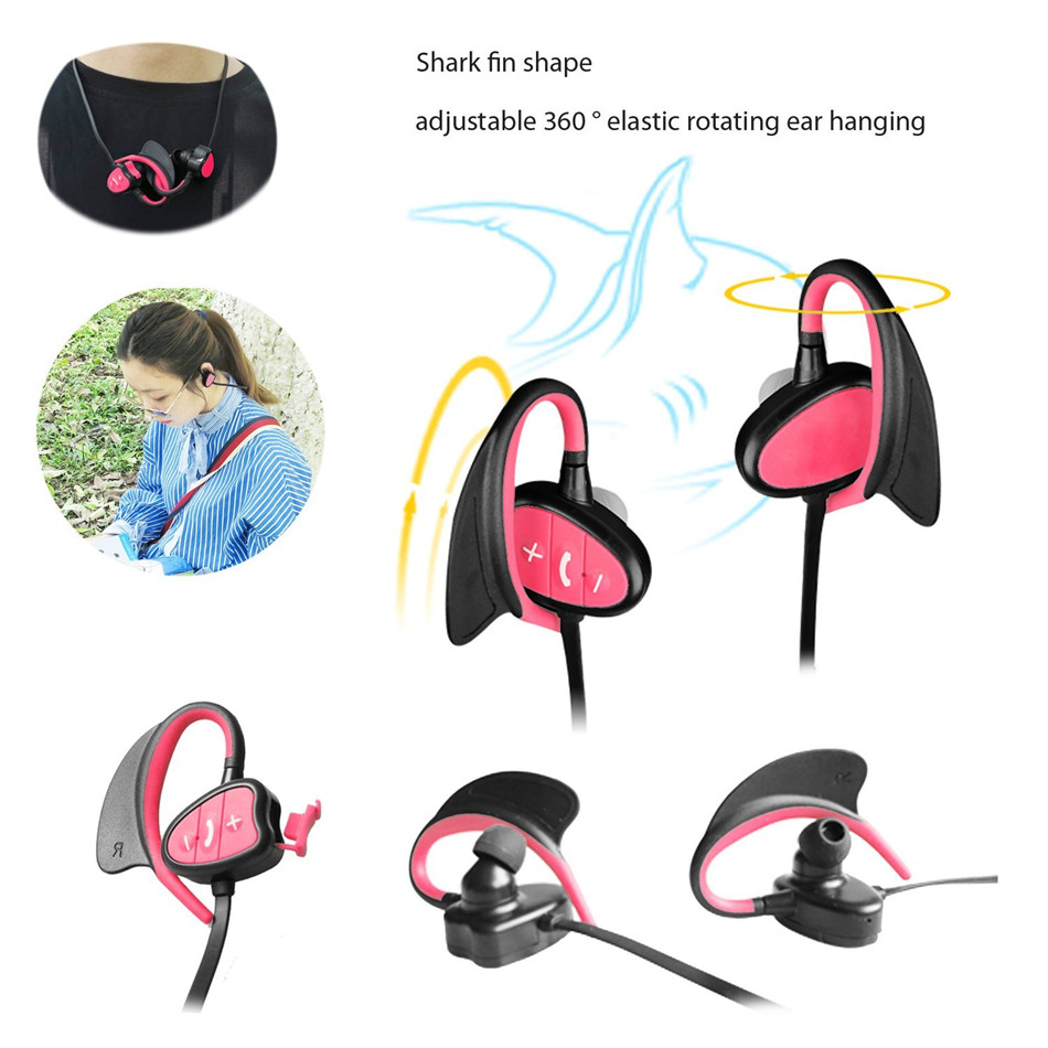 Waterproof Bluetooth Earphones for Swimming Ipx8 Headphones with Microphone Stereo Bass Sport Running Earphone for Phone Bag