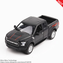 MINI AUTO 1:32 kids toys Ford F150 Pickup truck metal toy cars model for children music and light car gifts pull back for boys(China)