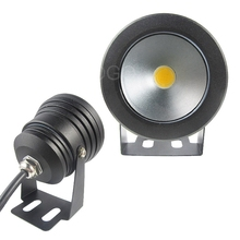 New arrival  12V 10W Underwater Flat Lens LED Waterproof Lamp Outdoor 1.2m Warm White
