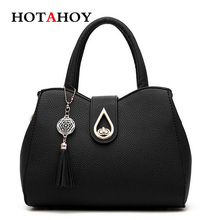 Women Tassel Pendant Handbag Water Droplets Sequined Messenger Bag Female High Capacity Shell Shoulder Bag