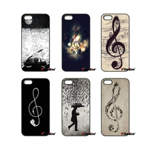 For iPhone 4 4S 5 5C SE 6 6S 7 Plus Samsung Galaxy Grand Core Prime Alpha Musical Notes Violin Classical Music Phone Case