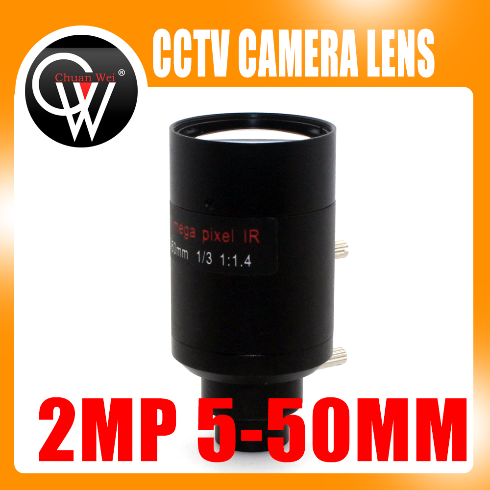2Megapixel 5-50mm Varifocal Lens D14 Mount View About 100m For Analog/720P/1080P AHD/CVI/TVI/IP CCTV Camera<br>