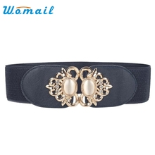 Womail Hot Fashion Accessories leather waistbelt women vintage Girdle Elastic Belt For Women ladies cintos femininos