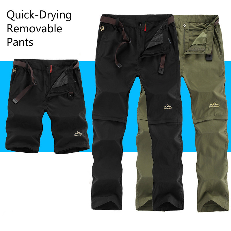 Summer Outdoor Sports Quick Dry Pants Men Camping Fishing Trekking Hiking Pants For Male Removable Thin Breathable Trousers<br><br>Aliexpress
