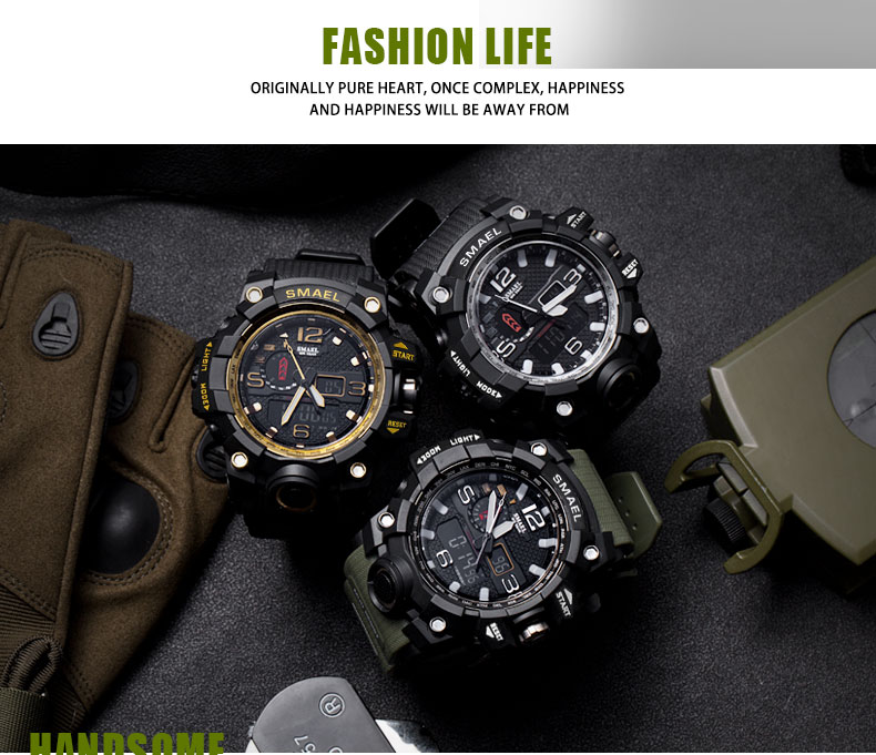 8 men watch black