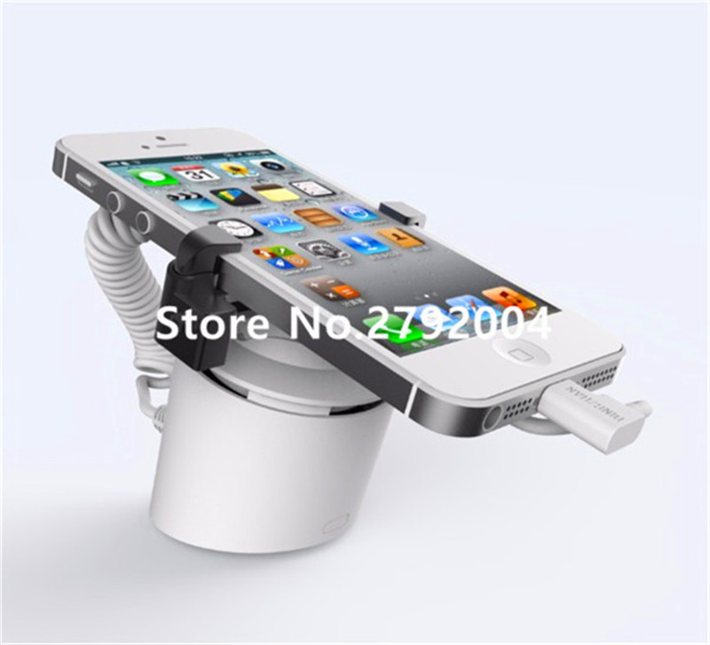 Column type independent anti-theft security alarm cellphone display stand holder<br>