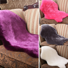New Soft Faux Sheepskin Rug Mat Carpet Pad Anti-Slip Chair Sofa Cover For Bedroom Home Decor Faux Mat 60x90cm(China)