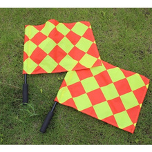 2pcs/set Soccer Referee Flag The World Cup Fair Play Sports Match Football Linesman flags with Carry Bag Referee Equipment(China)