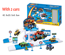 DIY Assemble Track Cartoon Blaze Monster Vehicle Machines Bigfoot Car Track Parking Lot Anime Action Figure Toys Christmas Gifts(China)