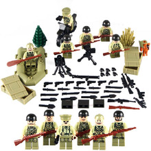 US Army WORLD WAR 2 Military SWAT Weapon Soldier Navy Seals Team Building Blocks Figures Toys Children Gift Compatible With Lego
