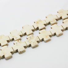 Penney 15*15mm Howlite Cross Beads Synthetise Dyed 15'' Fit Jewelry Women