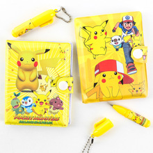 [TOOL] 2016 New Cartoon Anime Pokemon Pikachu Kids School Supplies Stationery Notebook+Ballpoint Pen Set #0022 - WED Department Store 1 store