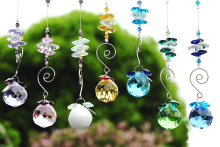 100pcs/lot 30mm 10 colors available crystal suncatcher prism diy hanging balls chandelier parts free shipping