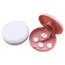 Portable Pill Cutter Splitter Divide Storage Medicine Cut Compartment Box Holder Travel Pill Case Medicine Drugs Pill Container(China)