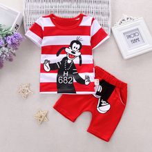 BOTEZAI Infant clothes toddler children summer baby boys clothing sets cartoon 2pcs dog love clothes sets boys summer set