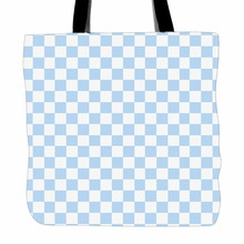 Checkered Puzzle Printed Tote Bag For Shopping Food Convenience Women Shoulder Custom Color Hand Bags Two Sided Printing(China)