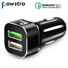 Powstro 30W Quick Charge 3.0 Car Charger Qualcomm QC3.0 QC2.0 USB Adapter + 2.4A USB Port Charger 4X Fast Than Normal Charging(China)