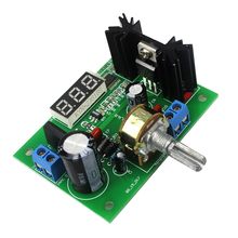 AC/DC-DC LM317 Adjustable Voltage Regulator Step Down Power Supply Module with LED Meter