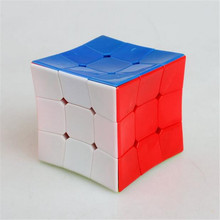 New Odd Concave Shape Stickerless Colorful 3x3x3 Skew Deform Magic Cube Education Puzzle Toys Gift