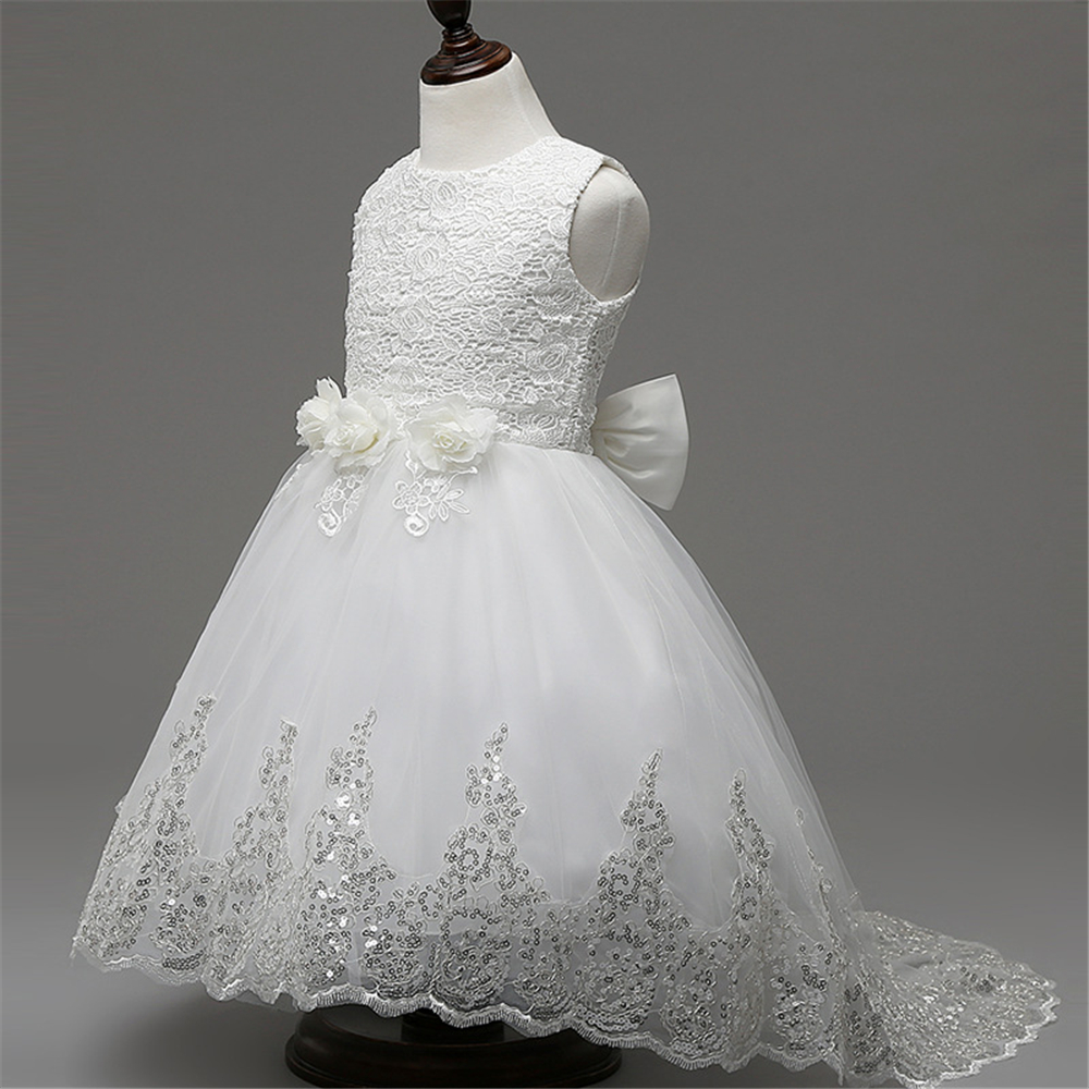3-10y 2017 Design Flower Girls Dresses for Party Wedding Pageant Teenager Girl White Lace Tutu Princess Dress Girl Evening Dress<br><br>Aliexpress