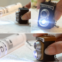 HOT Cute Mini Double Twin Lens Reflex TLR Camera Style LED Flash Light Torch Shutter Sound Keychain(China)