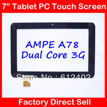 7 inch touch screen for Sanei N78 N79 Ampe A78 dual-core 3G Tablet capacitance touch screen TPC0509(China)