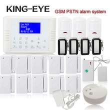 Wireless Wired Alarm Systems Security Home LCD speaker Keyboard Sensor GSM PSTN Alarm System Russian Spanish Polski with battery