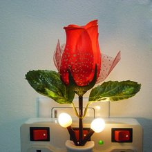 Hot Fashion LED Rose Night Light Rose Lamp Home Decoration LED Wall Lamp VC466 P0.4(China)