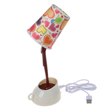 DIY LED Coffee Cup Lamp Home Decoration