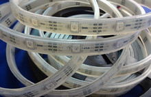 5m DC5V IP65 WS2812B led digital strip,30pcs WS2812B/M with 30pixels;36W;white pcb;IP68;epoxy resin filled in the tube(China)