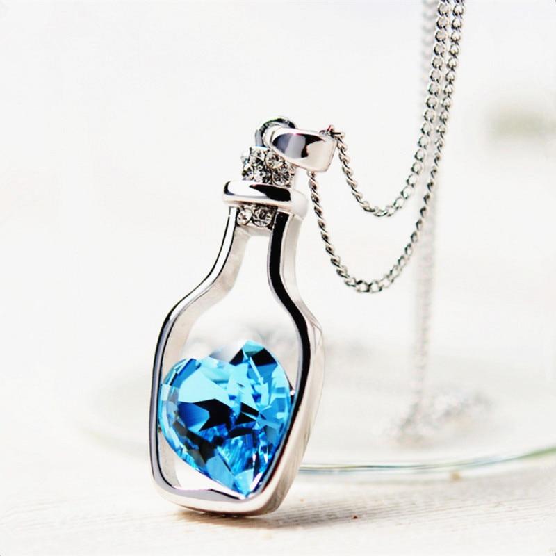 10pcCreative-Women-Fashion-Necklace-Ladies-Popular-Style-Love-Drift-Bottles-Pendant-Necklace-Blue-Heart-Crystal-Pendant