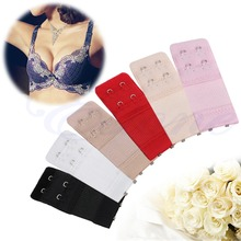 1 Set 5Pcs Bra Extender Elastic 2 Hook Soft Bra Extension Strap Underwear Strapless
