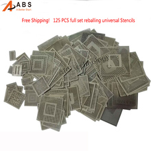 125pcs BGA Directly Heat Reballing Universal Stencils For SMT SMD Chip Rework Rpair