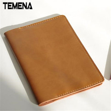 Genuine Leather Passport Holder Handmade ID Card Holder Passport Cover High Quality Travel Accessories APH125B(China)
