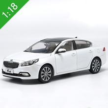 High simulation 1:18 2014 Yueda KIA K4 Alloy Car Model Metal Die cast Car Toy For Kids Gifts Toys Collection Original Box(China)