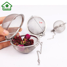 Durable Stainless Steel Tea Balls Tea Infuser Mesh Filter Strainer Loose Tea Leaf Spice Herbal Filter Hooking Chain Kitchen Tool