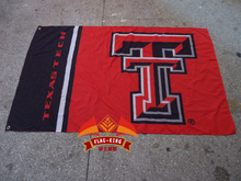 Texas Tech Colleges and Universities flag ,Digital print, 1 PCS, custom Sports meeting banner,out door flag(China)