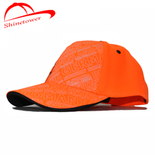 [Shinetower] Embroidery Print Letters Baseball Ball Casual cap Orange snapback hats